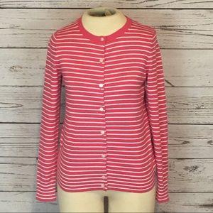 NWOT L.L.Bean Supima cotton striped cardigan